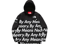 Supreme North Face Mountain Pull Over Jacket L By Any Means Necessary