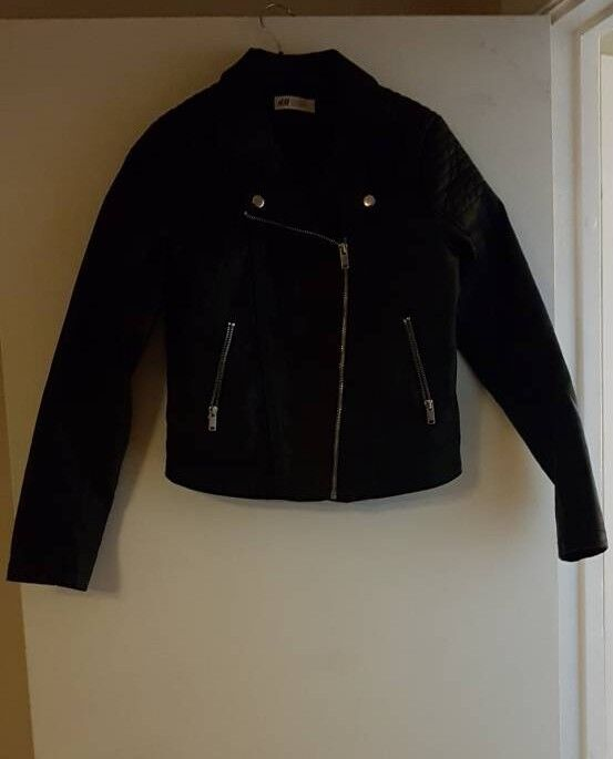 Girls leather look jacket h&m age 13