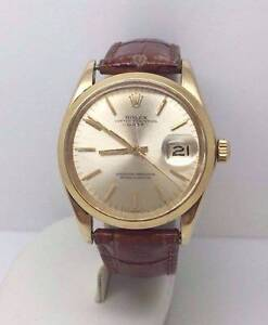 Vintage Rolex 1503 Oyster Perpetual Date Solid 14K Yellow Gold Menora Stirling Area Preview