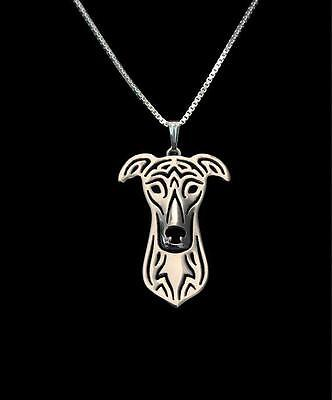 Greyhound  Pendant Necklace Silver Tone ANIMAL RESCUE DONATION
