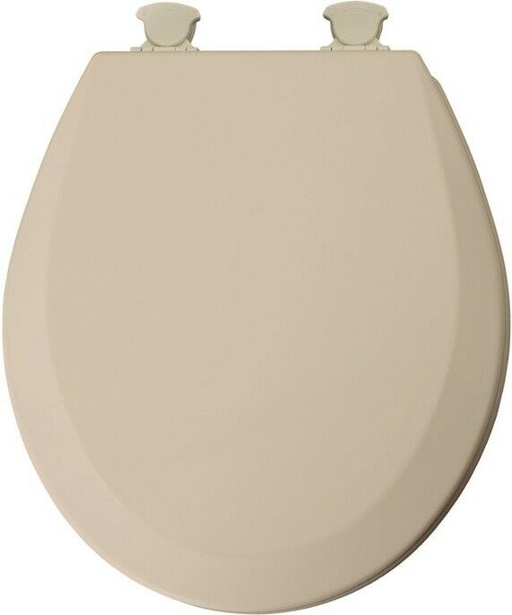 Mayfair 41EC-078 Round Toilet Seat, Wood, Beige