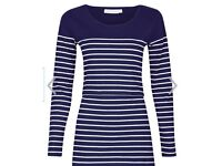 JOJO MAMAN BEBE NURSING TOP (BRETON NAVY STRIPES IN SIZE M)