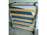 Single folding guest bed with mattress