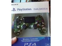 For sale Sony Playstation 4 PS4 Dual Shock 4 controller version 2 brand new sealed in green camo
