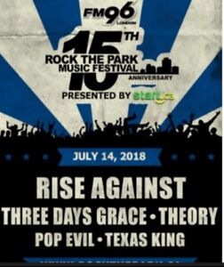 Rock The Park VIP table Front row !! Rise against!