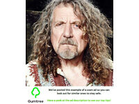 Robert Plant Tickets -- Read the ad description before replying!!