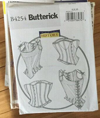 Butterick 4254 Corset Steampunk Costume Pattern Halloween NEW Adult Uncut