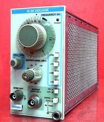 Tektronix Sg505 Signal Generators Audio Oscillator 10 Hz To 100 Khz