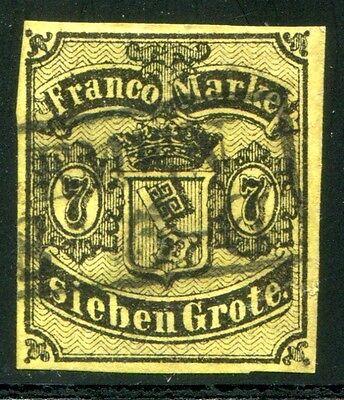 BREMEN 1860 3a gestempelt BEFUND BPP 900€(Z7773
