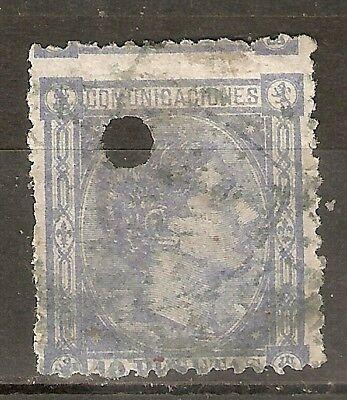 1875 ALFONSO XII EDIFIL 171º TALADRADO