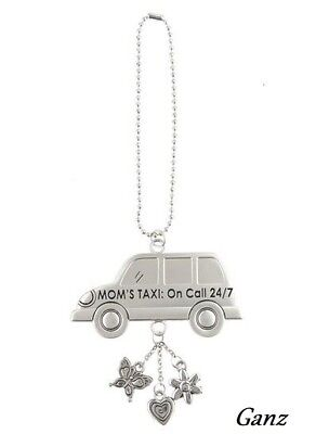 Car Charm - MOM'S TAXI: ON CALL 24/7 - Hang from Your Rear View Mirror! by Ganz