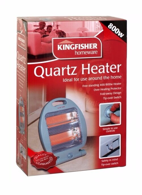 800w Electric heaterin Brighton, East SussexGumtree - Kingfisher Quartz heater. Free standing 400/800w, fold away design. Unused, unopened. Call Kelly on 07920854233