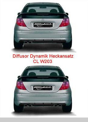 Mercedes W203 CL Diffusor Dynamik für Serienstoßstange Auspuffausgang li. 3 Finn