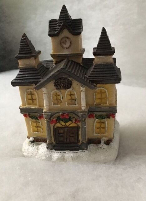 Light Up Festive Christmas Village House Town Hall Ornament Lights Decoration