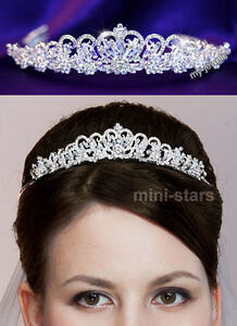 Bridal Wedding Heart Tiara use Swarovski Crystal T1057