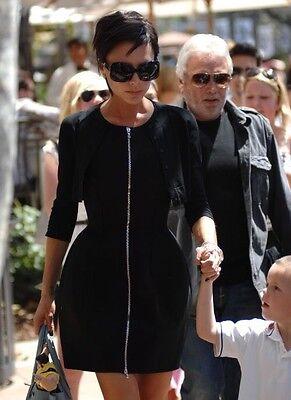 Alaia Womens Black Wool Sleeveless Zip Front Flare Dress Xxs    Maxfield