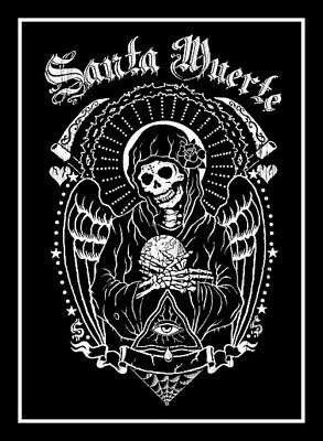 "4.5"" Santa Muerte vinyl sticker. Grim Reaper. Catholic Angel of Death decal."