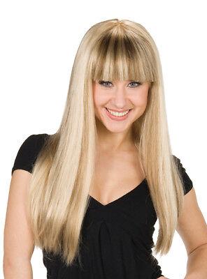 Rub - Karneval Damen Perücke Mandy lange blonde Haare Zubehör zum Kostüm