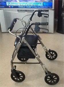 Hugo Elite Rollator Walker with Seat, Backrest and Saddle Bag