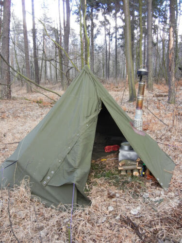 Two military polish lavvu ponchos Size 3 - it is a teepeee tent, also in winter