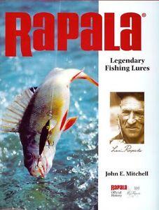 MITCHELL JOHN FISHING BOOK RAPALA LEGENDARY FISHING LURES hardback bargain new