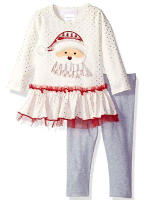 NEW Bonnie Baby Baby Girl's Outfit Christmas Dress Legging 2-Piece Set 18 - Bonnie Baby Christmas Outfits