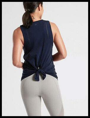 Athleta NWT Women's Foothill Tank Size Med Color Navy