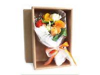 Boxed flower soap bouquet