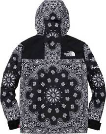 SUPREME 14 F/W NORTH FACE BANDANA MOUNTAIN PARKA JACKET PAISLEY Size L