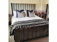 Brand New Luxury Chanel Wingback Beds for Sale