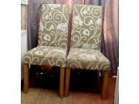 WINDSOR DINING OCCASIONAL CHAIRS X 2 VERY HIGH BACKED DEEP SEATED