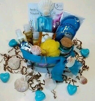 MOTHER'S DAY GIFT BASKET VANILLA SUGAR SPA BATH BODY LOTION CANDLE CHOCOLATES