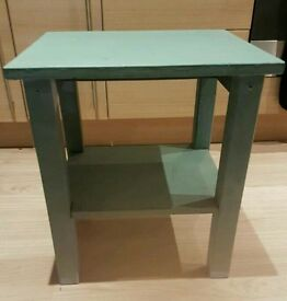 Aqua Blue brushed paint side table