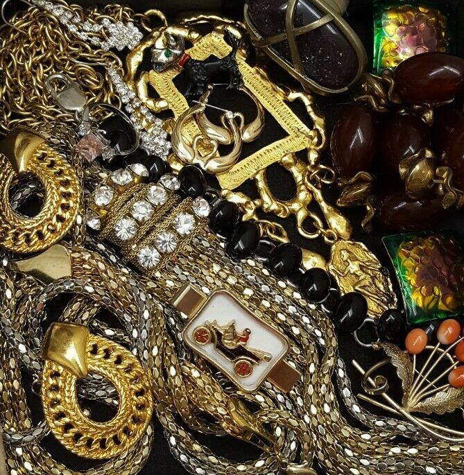 Vintage Now Unsearched Untested NOT Junk Drawer Jewelry Lot Estate All Wear L715