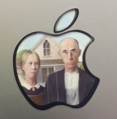 Used, GLOWING AMERICAN GOTHIC Apple MacBook Pro Air Sticker Mac Laptop DECAL 11-17 in for sale  Shipping to India