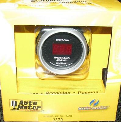 Wide Band O2 Meter (Auto Meter Street Sport-Comp Wide Band O2 AFR Air Fuel Ratio Kit 2-1/16