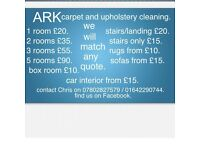ARK CARPET & UPHOLSTERY CLEANING, CALL 07802827579 for Quote, find us on facebook.