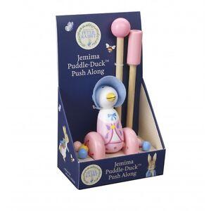 Orange Tree Wooden Jemima Puddle-Duck Push Along   Push Along Toy   UK