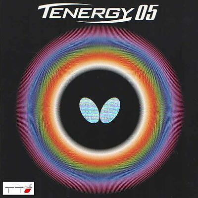 Butterfly Table Tennis Ping Pong Rubber Tenergy 05 2.1mm Black