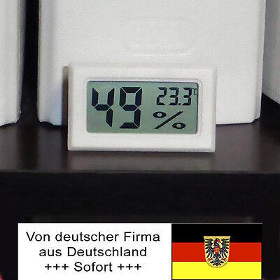 Hygrometer Thermometer Modul, Anti-Schimmel-Schutz, Wohnwagen, Boot, Zelt weiss