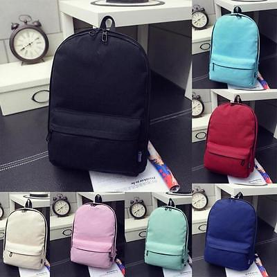 New Girls Boys Canvas School Bag Travel Backpack Satchel Women Shoulder Rucksack