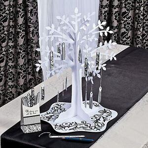Black & White Wishing Tree Centerpiece Weddings Reception Decoration Wishes New