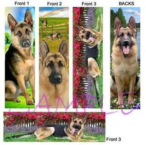 3 Lot- GERMAN SHEPHERD Dog BOOKMARKS Book Mark Card Art