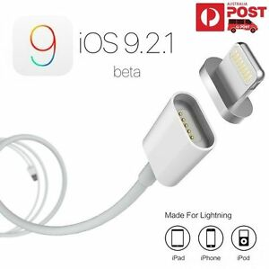 White Magnetic Adapter fast Charger 8pin Cable USB Cord w/ Plug For iPhone iPad