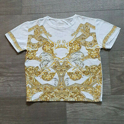 Genuine Young Versace Cotton Baroque T shirt 6-7 years