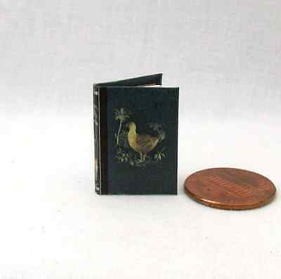 A HISTORY OF BIRDS Illustrated Miniature Book Dollhouse 1:12 Scale Book