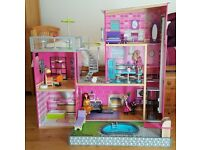 Bargain - Kidcraft Uptown doll house and extras