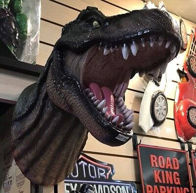 """T-Rex Dinosaur Head Wall Mounted Sculpture 16."""" Tall, used for sale  Shipping to Canada"""