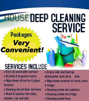 Cleaning Services Offered