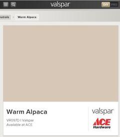 Valspar 2.5L Matt Emulsion Paint in Warm Alpaca. New and sealed.